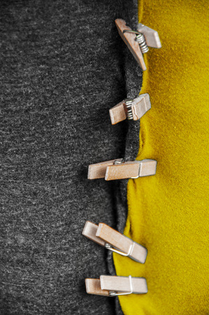 black yellow coalition clothes with clothespin