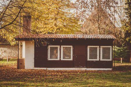 shack in autumn