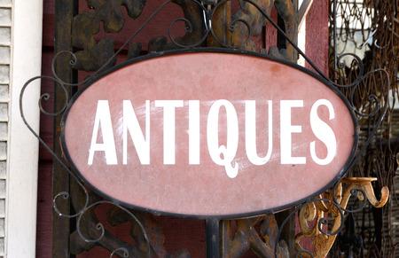 antiques: Antiques Sign