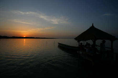 20090202 Republic of Gambia, Africa, sunset on the Gambia river, rest at sunset