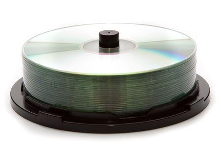 recordable: Recordable CDs on stack