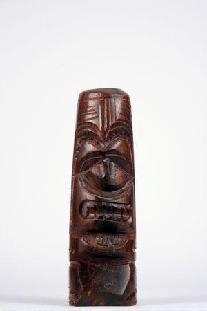 hand gesneden houten huesox idool uit Hawaii