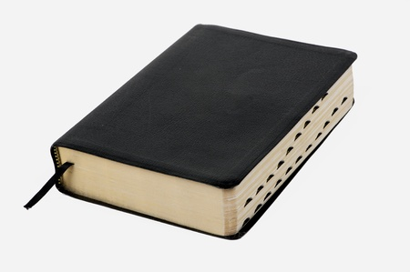 protestantism: Holy Bible on white background Stock Photo