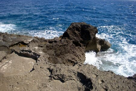 traveling along the Salento coast. Rocks carved by nature