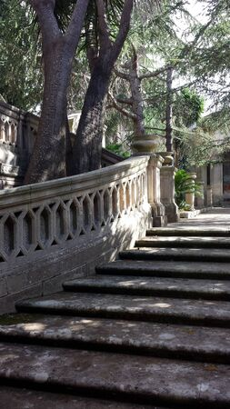 Otranto, Italy, Europe - July 11, 2016 stairs in the public park