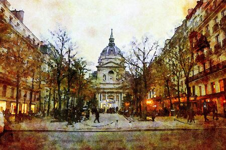 one of the squares in the center of Paris Banque d'images
