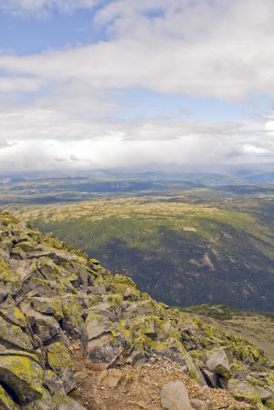 eiszeit: Hardangervidda Nationalpark, Bild von der Spitze des Gaustatoppen, 1882m �ber Meeresboden genommen. Die Oberseite des Gaustatoppen von Felsen bedeckt ist, zu glauben, der Meeresboden vor der Eiszeit sein. Lizenzfreie Bilder