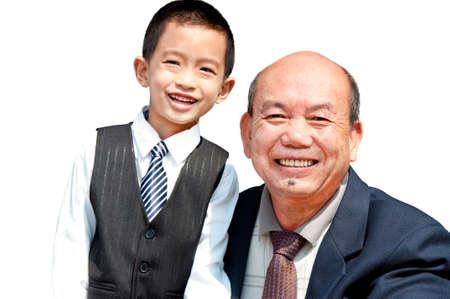 Grandpa and grandson Stock Photo - 9601534