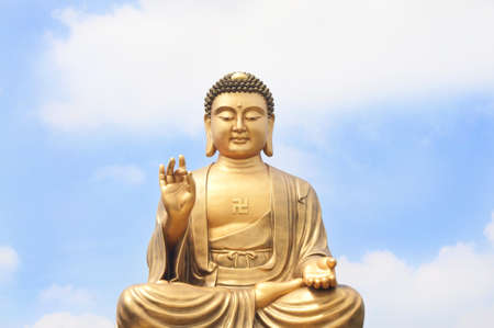 buddhism prayer belief: Kind of Buddha and the sky