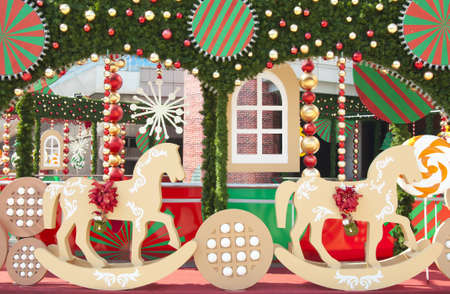 year of horse: Christmas scenery
