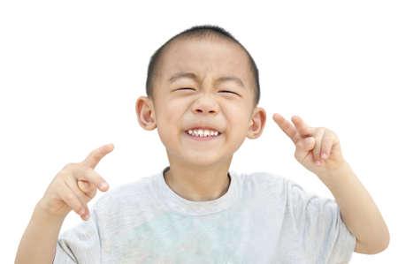 Children smirk photo