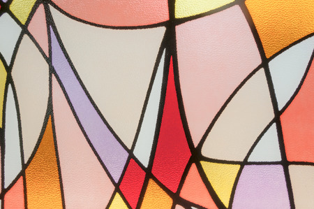 church window: Multicolored stained glass church window Stock Photo
