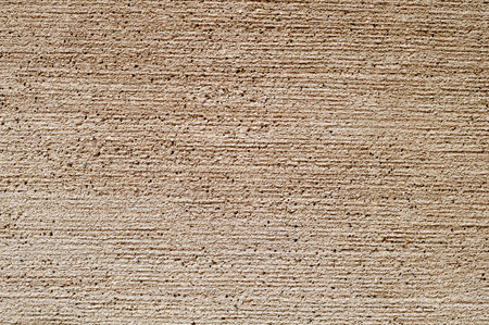 Beige roughcast outer wall Stock Photo