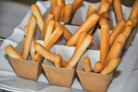 breadstick: Cup of Bread sticks grissini as an appetizer