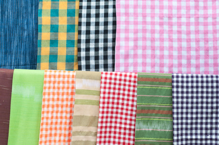 Colourful hanging hand weaved cotton clothes