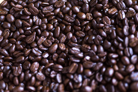 Coffee Bean background, selective focus