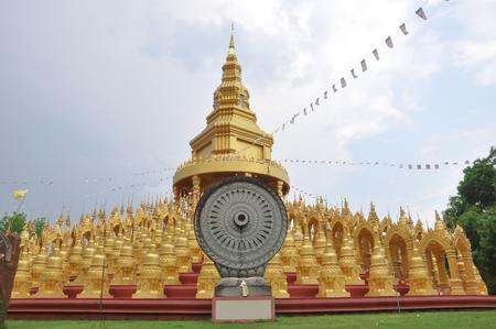 Beautiful golden Pagoda in Thailand ,Wat Pasawangboon