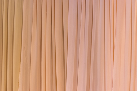 Brown curtain ideal for backgrounds and textures Stock Photo