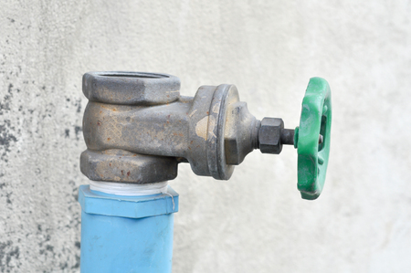 Close up old water valve