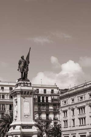 admiral: Statue of admiral Oquendo in Donosti