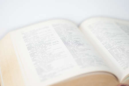 An old dictionary in a strange language