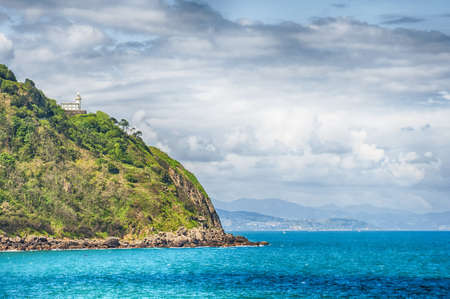 cantabrian: Beacon on the hill in the Cantabrian coast