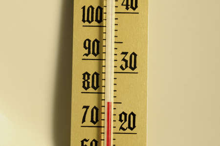 old mercury: Detail of an old mercury thermometer