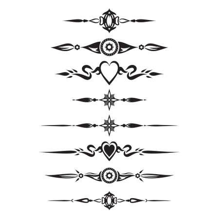 Decorative Text Divider Separator Ornament Design Element
