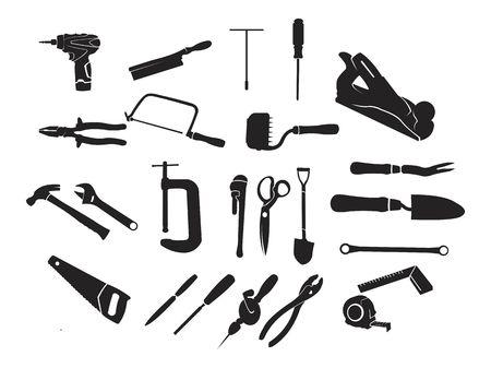 Carpenter Carpentry Bricklayer Equipment Tool Black Icon Symbol