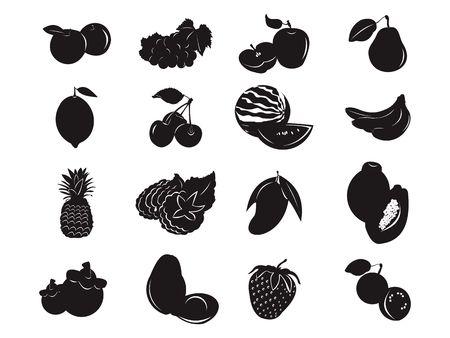 Fruit Tropical Health Food Silhouette Black Icon Symbol
