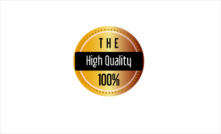 Golden High Quality Vector Stamp Seal Badge Label