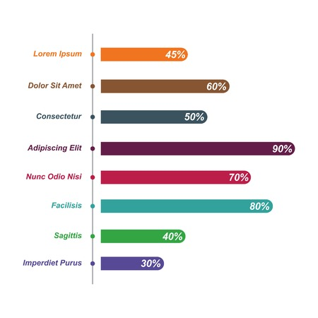 Bar Chart Graph Diagram Statistical Horizontal Infographic Illustration Ilustração