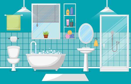 Badezimmer-Innenraum-saubere moderne Raum-Möbel-flaches Design