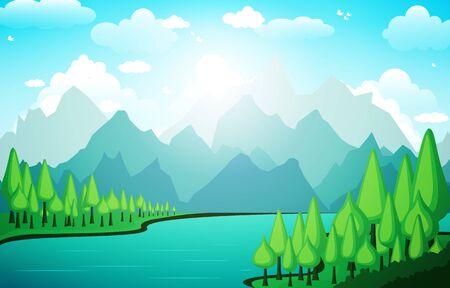 Berge Hügel See Grün Natur Landschaft Himmel