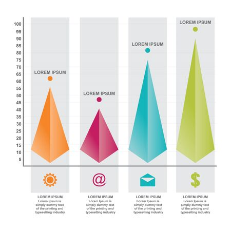 Bar Chart Graph Triangle Pyramid Statistical Business Infographic