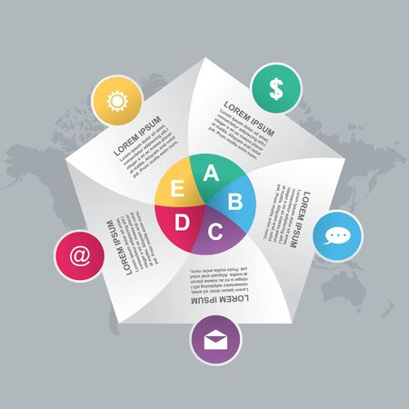 Business Steps Modern Shutter Cycle Chart Infografik Vorlage