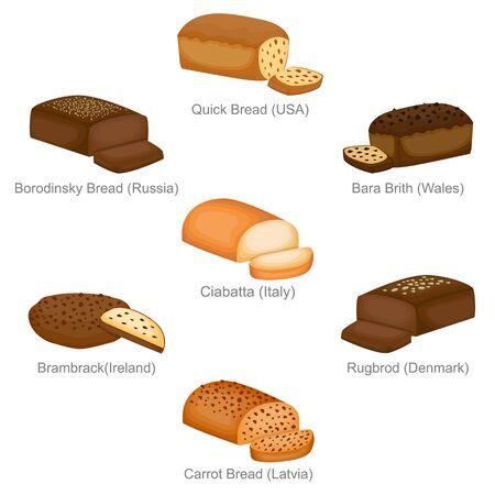 Quick Borodinsky Bara and Famous Unique Bread of Countries Set