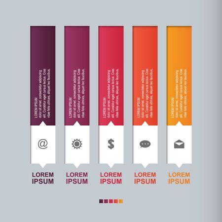 Diagramme à Barres Graphique Étapes Diagramme Statistiques Affaires Infographie Illustration Vecteurs
