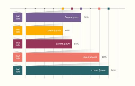 Bar Chart Graph Diagram Statistical Business Infographic Illustration