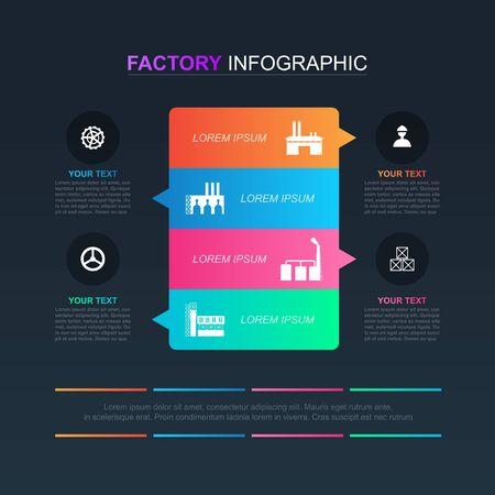 Option Scheme Chart Graph Diagram Analytics Factory Industrial Business Infographic Vektorové ilustrace