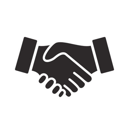 handshake icon vector design illustration Ilustração Vetorial