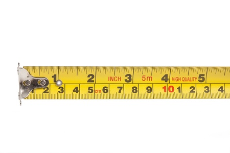 tape measure isolated on white background Stock Photo - 21059877