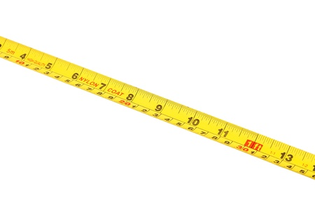 tape measure isolated on white background Stock Photo - 21059878