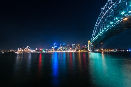sydney Harbour, is the natural harbour of Sydney, New South Wales, Australia. The harbour is an inlet of the South Pacific Ocean.
