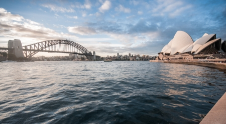 The Harbour Bridge is the world's widest long-span bridge.