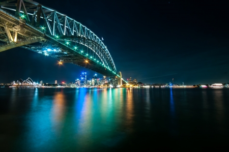 This image shows the Sydney Skyline as seen from Milsons Point, Australi photo