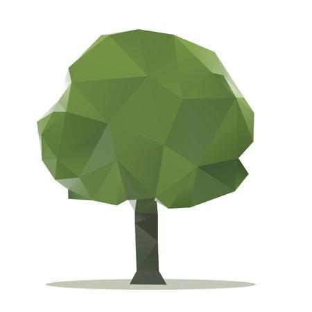 tree polygon  Stock Photo