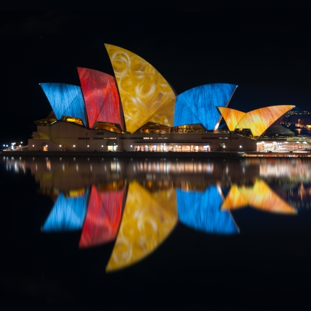 during Vivid Sydney: A Festival of Light, Music & Ideas on july 10, 2010 in Sydney, Australia.
