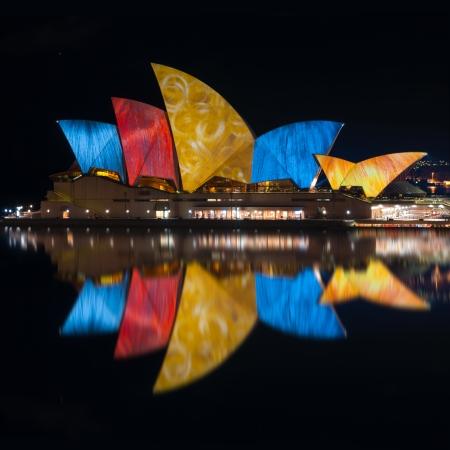 during Vivid Sydney: A Festival of Light, Music & Ideas on july 10, 2010 in Sydney, Australia.