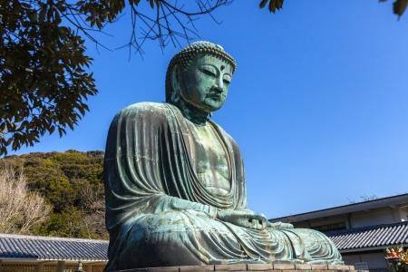 Famous Great Buddha bronze statue in Kamakura